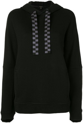 ALALA Shift checked detail hoodie