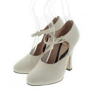 Gucci White Leather Heels
