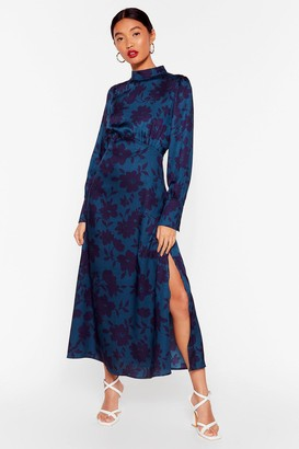 Nasty Gal Womens Let's Get Growin' Floral Maxi Dress - Teal