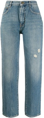 McQ Swallow Faded Straight-Leg Jeans