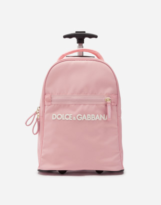 Dolce & Gabbana Cordura Nylon Wheelie Bag With Rubberized Logo
