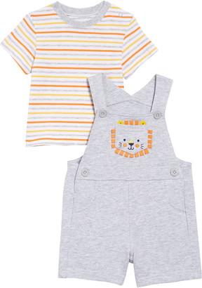 Little Me Lion T-Shirt & Shortalls Set