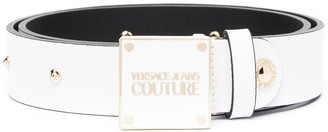 Versace Jeans Couture Logo Plaque Studded Belt