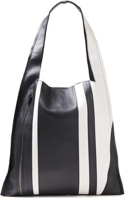 Elena Ghisellini Estia Two-tone Leather Shoulder Bag