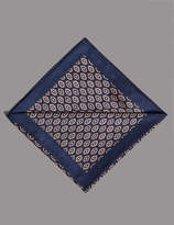 Autograph Pure Silk Geometric Print Pocket Square