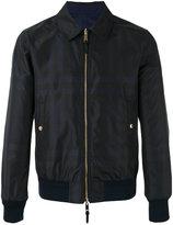 Burberry plaid bomber jacket - men - Polyester/Polyamide/Cotton/Nylon - 50