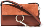 Chloé Faye Mini Leather And Suede Shoulder Bag - Brown