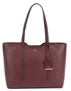 BOSS Shopper bag in grained Italian leather