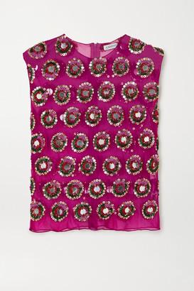 Ashish Embellished Georgette Top - Pink
