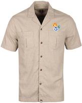 Pretty Green Bardsley Beige Short Sleeve Shirt
