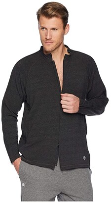 Reboundwear The Trevor L/S Easy Dressing Polo Shirt (Black) Men's Clothing