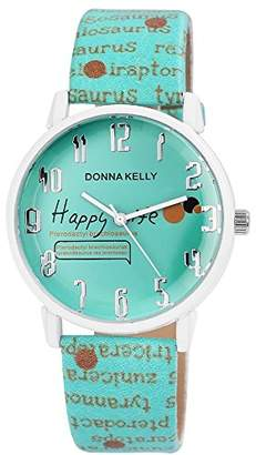 Donna Kelly Womens Analogue Quartz Watch with Leather Strap 191293500005