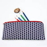 STUDY nickynackynoo Liberty 'Jonathan' Blue Pencil Case