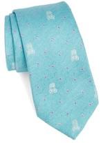 Psycho Bunny Men's Bunny Dot Silk Tie