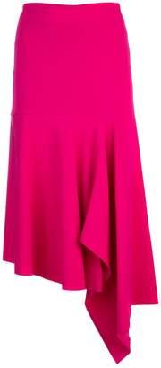Balenciaga Asymmetric Draped Midi Skirt