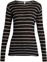 R 13 Long-sleeved striped cashmere sweater