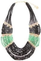 Marc Labat Gypsy 13H41 Women's Necklace - Metal - Pearl - 58 cm - Black/Duck Blue