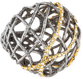 Alexis Bittar Crystal Lace Bombe Cocktail Ring
