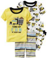 Carter's Toddler Boy Construction 4-pc. Pajama Set
