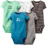 Carter's Baby Boys' 5 Pack Monster Bodysuits (Baby) - 3M