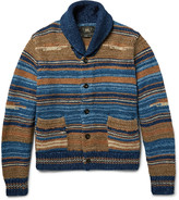 Rrl - Shawl-collar Striped Cotton-blend Cardigan
