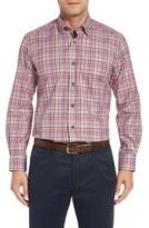 David Donahue Men's Check Herringbone Sport Shirt