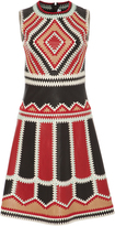 RED Valentino Crochet Embroidered Leather Dress