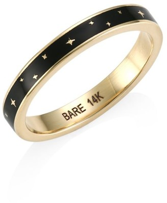 Bare Champleve Black Enamel Ring