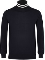 Paul Smith Navy Fine-knit Wool Blend Jumper