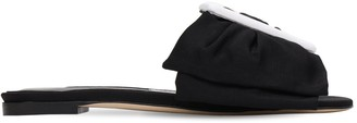 Manolo Blahnik Herrera 10mm Flaria Grosgrain Sandals