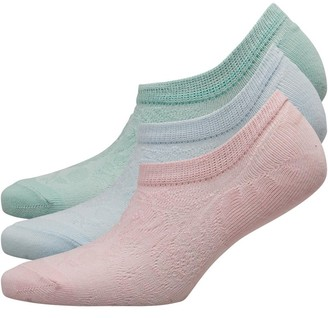 Fruit Cake Fruitcake Womens Invisible Trainer Liners Raised Knit Pattern/Mint Blue Pink