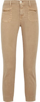 J Brand Talon Stretch-cotton Twill Skinny Pants - Sand