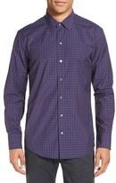 Zachary Prell Men's 'Dougherty' Trim Fit Plaid Sport Shirt