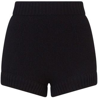 Dolce & Gabbana High-Waisted Cashmere Shorts