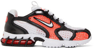 Nike White and Pink Spiridon 2 Cage Sneakers