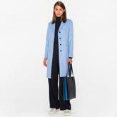 Paul Smith Women's Cornflower Blue Wool-Cashmere Epsom Coat