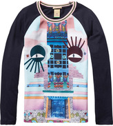 Scotch & Soda Photo Printed Raglan T-Shirt