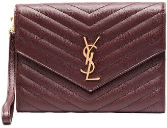 Saint Laurent New Pouch Monogram clutch