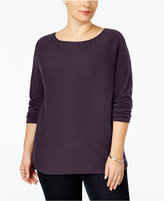 INC International Concepts Plus Size Tunic Sweater, Only at Macy's