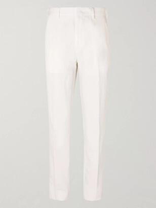 Ermenegildo Zegna Cotton And Linen-Blend Trousers