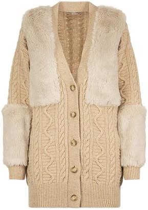 Stella McCartney Fur Free Fur Knit Cardigan