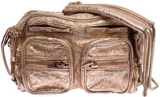 Alexander Wang Metallic Rose Gold Leather Brenda Shoulder Bag