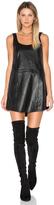 Blaque Label Leather Tank Dress