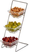 Sheridan Glass Dish Four-Piece Serving Rack Set