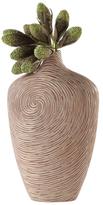 Torre & Tagus Short Carved Swirl Vase