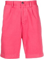 BOSS pleated-front chino shorts