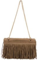 Trussardi Fringe Suede Shoulder Bag