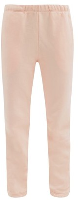 LES TIEN Classic Brushed-back Cotton-jersey Track Pants - Light Pink
