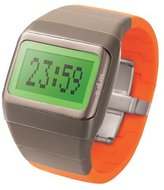 o.d.m. Unisex SDD99B-12 Link Series Gray and Orange with Green screen Programmable Digital Watch