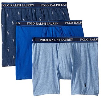 Polo Ralph Lauren 3-Pack Stretch Classic Fit Boxer Briefs (Andover Heather/Charcoal Heather/Polo Black) Men's Underwear